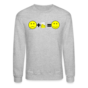 Beer: Liquid Happiness Men's Crewneck Sweatshirt - Crewneck Sweatshirt