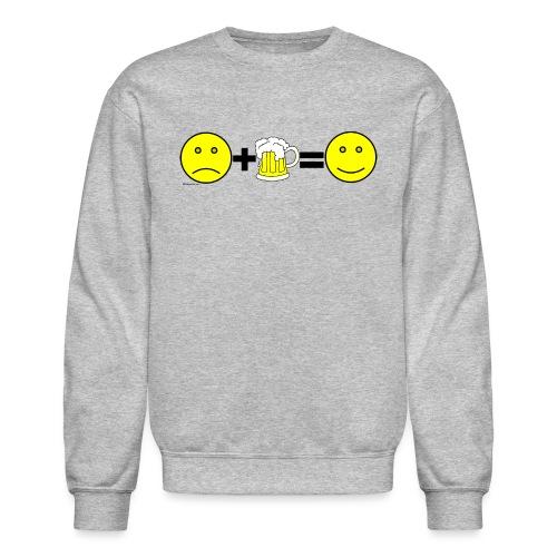 Beer: Liquid Happiness Men's Crewneck Sweatshirt - Crewneck Sweatshirt