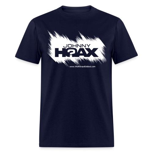 Johnny Hoax Logo Tee white ink - Men's T-Shirt