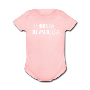 Translation (white) - Short Sleeve Baby Bodysuit