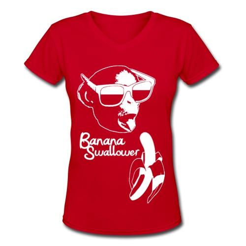 Banana Swallower - Women's V-Neck T-Shirt
