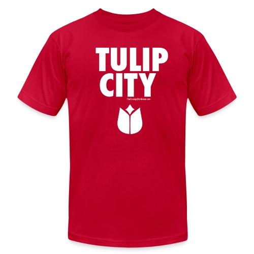 Tulip City (white) - Men's Fine Jersey T-Shirt