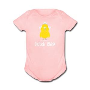 Dutch Chick (white) - Short Sleeve Baby Bodysuit