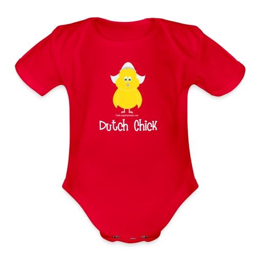 Dutch Chick (white) - Organic Short Sleeve Baby Bodysuit