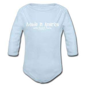 Dutch Parts (white) - Long Sleeve Baby Bodysuit