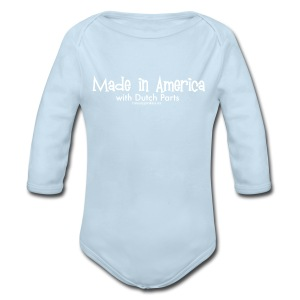 Dutch Parts (white) - Long Sleeve Baby Bodysuit