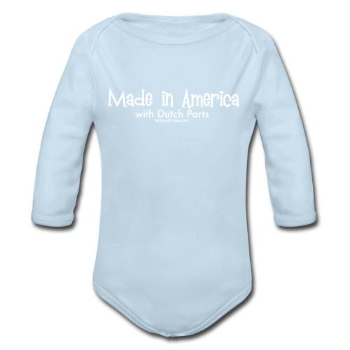 Dutch Parts (white) - Organic Long Sleeve Baby Bodysuit