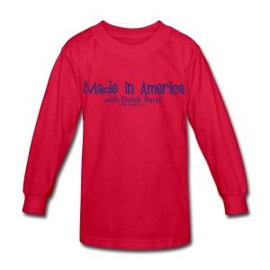 Dutch Parts (blue) - Kids' Long Sleeve T-Shirt