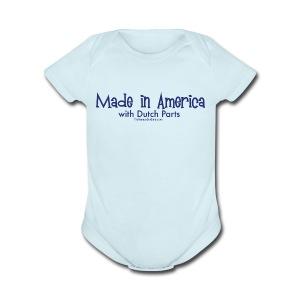 Dutch Parts (blue) - Short Sleeve Baby Bodysuit