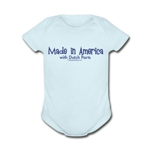 Dutch Parts (blue) - Short Sleeve Baby Bodysuit
