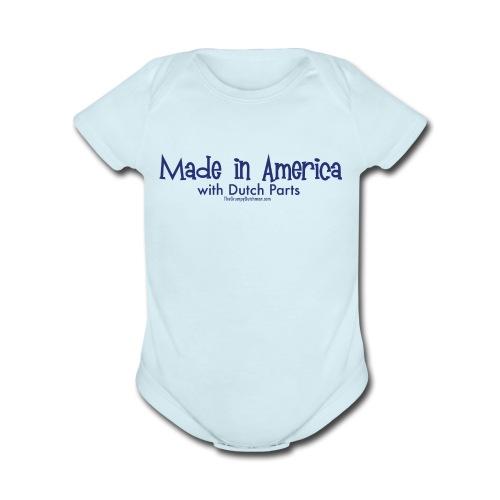 Dutch Parts (blue) - Organic Short Sleeve Baby Bodysuit