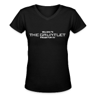 Women's T-Shirts ~ Women's V-Neck T-Shirt ~ Welcome to The Gauntlet