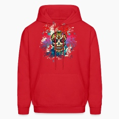 Mexican Sugar Skull, Flowers, Ornaments, Dead Hoodies