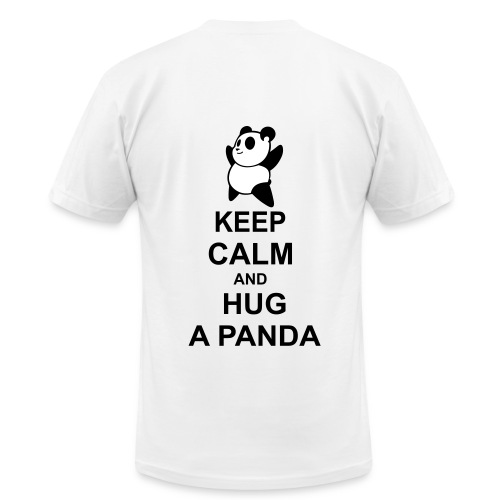 Keep calm and hug panda - Men's  Jersey T-Shirt