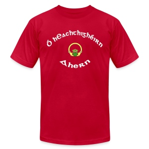 Ahern Family Claddagh Tee for Men - Men's T-Shirt by American Apparel