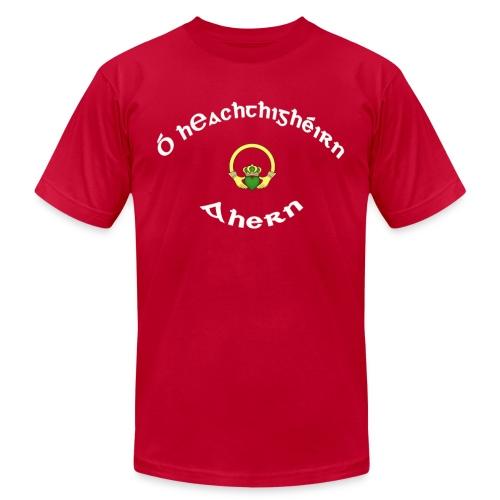 Ahern Family Claddagh Tee for Men - Men's Fine Jersey T-Shirt