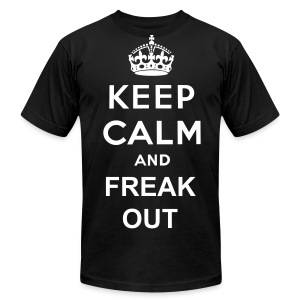 Keep calm and freak out - Men's Fine Jersey T-Shirt