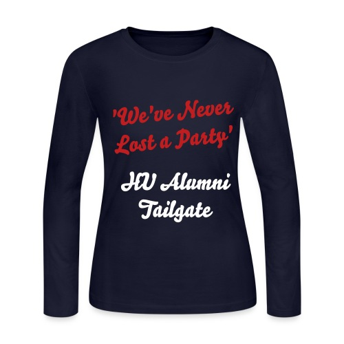 hu alumni tg - Dy (long sleeve '12) - Women's Long Sleeve Jersey T-Shirt