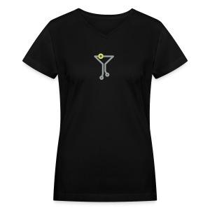TechCo Classic V - Women's Fitted Tee - Women's V-Neck T-Shirt