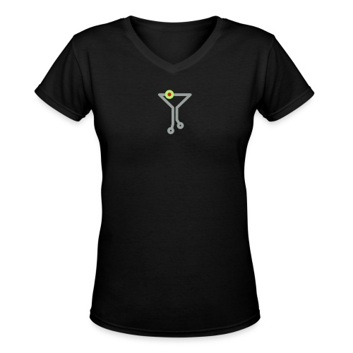 TechCo Classic V - Women's Fitted Tee - Women's V-Neck T-Shirt