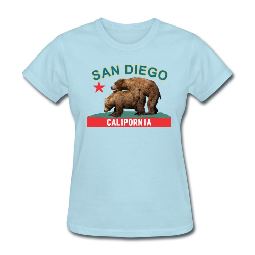 CP San Diego blue*gold f - Women's T-Shirt