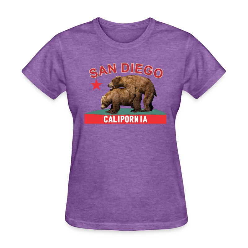 CP San Diego red&gold f - Women's T-Shirt