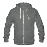 Zip Hoodies & Jackets ~ Unisex Fleece Zip Hoodie by American Apparel ~ Tech Cocktail Grey Hoodie