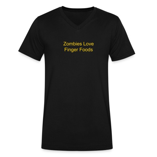 Zombies Love - Men's V-Neck T-Shirt by Canvas