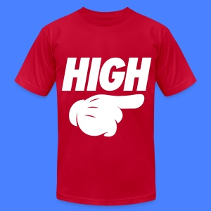 High Pointing Right T-Shirts - Men's T-Shirt by American Apparel