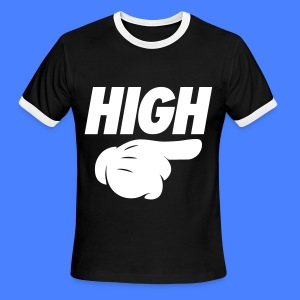 High Pointing Right T-Shirts - Men's Ringer T-Shirt