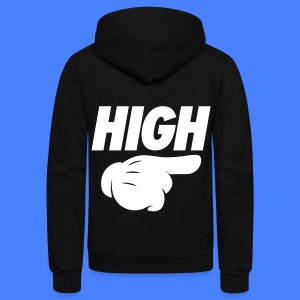 High Pointing Right Zip Hoodies & Jackets - Unisex Fleece Zip Hoodie by American Apparel