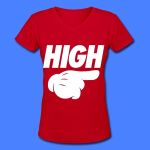 High Pointing Right Women's T-Shirts - Women's V-Neck T-Shirt