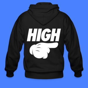 High Pointing Right Zip Hoodies & Jackets - Men's Zip Hoodie