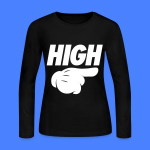 High Pointing Right Long Sleeve Shirts - Women's Long Sleeve Jersey T-Shirt