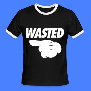Wasted Pointing Left T-Shirts - Men's Ringer T-Shirt