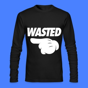 Wasted Pointing Left Long Sleeve Shirts - Men's Long Sleeve T-Shirt by Next Level
