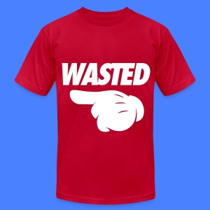 Wasted Pointing Left T-Shirts - Men's T-Shirt by American Apparel