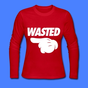 Wasted Pointing Left Long Sleeve Shirts - Women's Long Sleeve Jersey T-Shirt
