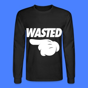 Wasted Pointing Left Long Sleeve Shirts - Men's Long Sleeve T-Shirt