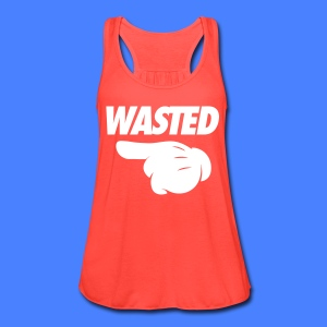 Wasted Pointing Left Tanks - Women's Flowy Tank Top by Bella