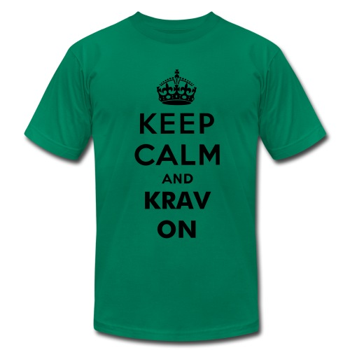 Keep Calm and Krav On - Men's Fine Jersey T-Shirt