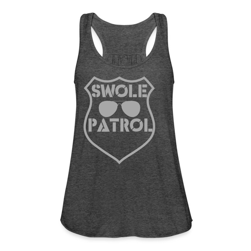 swole patrol - Women's Flowy Tank Top by Bella
