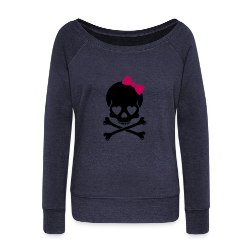 skull - Women's Wideneck Sweatshirt
