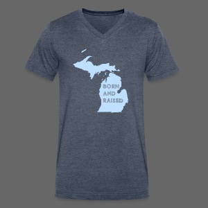 MI Born and Raised - Men's V-Neck T-Shirt by Canvas