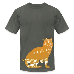 Ocelot (Solid) Grounded - Men's T-Shirt by American Apparel