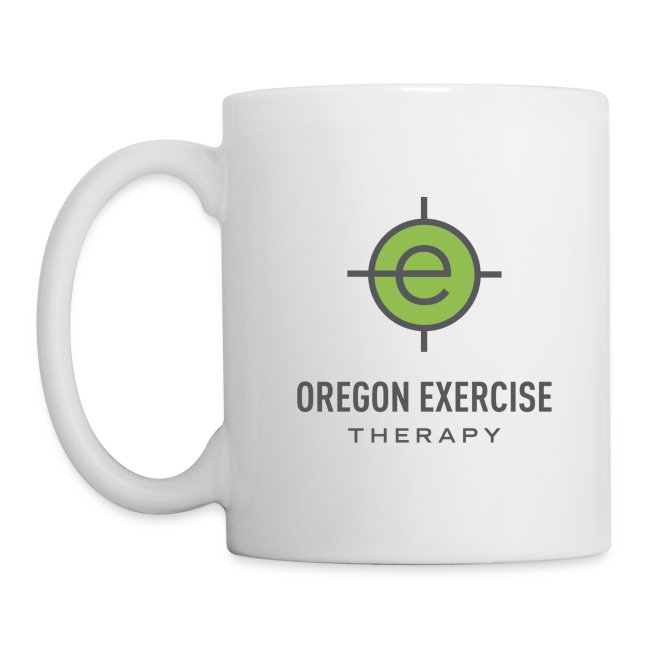 OET white coffee mug