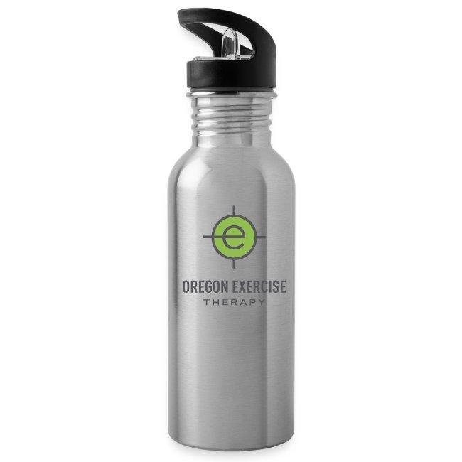 OET silver water bottle
