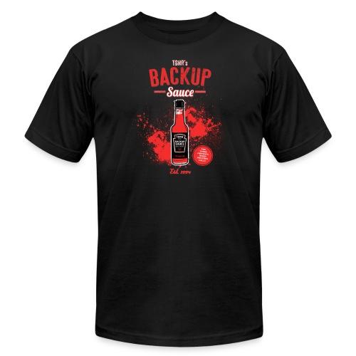 Back Up Sauce (American Apparel) [M] - Men's Fine Jersey T-Shirt