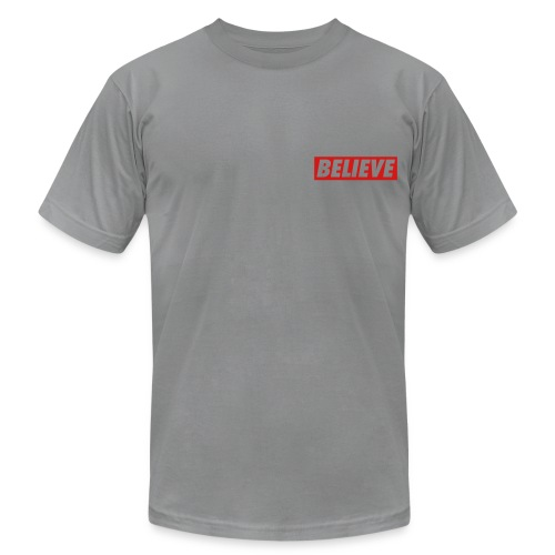 Grey Tee Believe FLSB - Men's Fine Jersey T-Shirt
