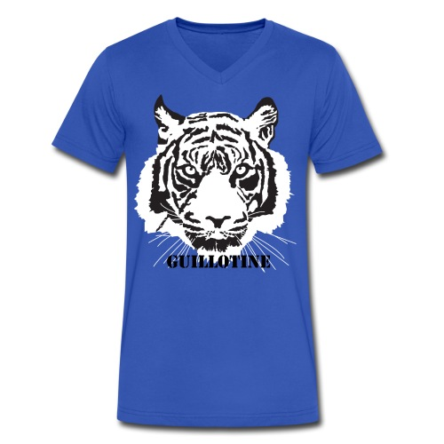 White Tiger - Men's V-Neck T-Shirt by Canvas